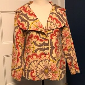 Anthropologie Fei Floral Corduroy Jacket